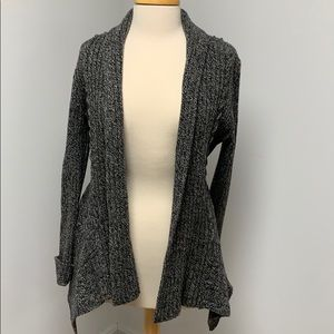 Anthropologie Open Front Drape Wool Cardigan